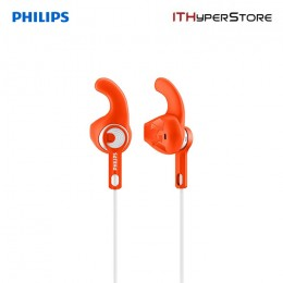 Philips Sports Headphone SHQ1300OR/00 - Orange & White