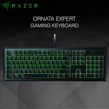 Razer Ornata Expert Gaming Keyboard (Green color lighting, Mid-Height Keycaps & include Wrist Rest) RZ03-02041700-R3M1