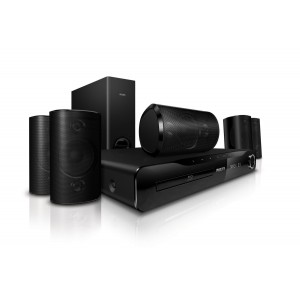 Philips HTS3560/12 1000W 5.1 Channel 3D Blu Ray Home Cinema System - HTS3560