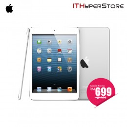DEMO: Apple iPad Mini WIFI 16GB (White) - GRADE A