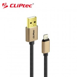 CLiPtec OCC141 USB 2.0 Nylon Braided 8-Pin Lightning Cable (Black)