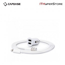 Capdase Pico K2 (With Lightning Cable), Dual USB Car Charger & Cable