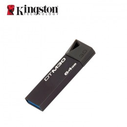 Kingston Digital 64GB USB 3.0 Data Traveler Mini Super Speed Thumb Memory Stick Flash Pen Drive Black (DTM30/64GBBFR)
