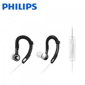 Philips SHQ3305WS ActionFit Sports Headphones with Mic, White Storm