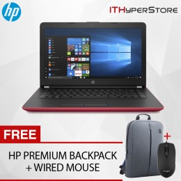 "HP 14-bw054AU 14"" Laptop Red (A6-9220, 4GB, 500GB, ATI, W10H)"