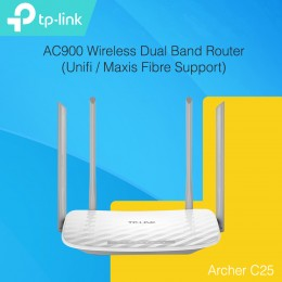 TP-LINK AC900 Wireless Dual Band Router Archer C25 (UNIFI / MAXIS FIBRE SUPPORT)