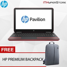 "HP Pavilion 15-au137TX 15.6"" FHD Laptop Red (i7-7500U, 4GB, 1TB+128GB, GT940MX 4GB, W10)"