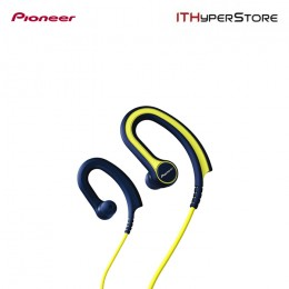 Pioneer SE-E711T-Y Fully Enclosed Sports headphones with in-line Microphone, Yellow