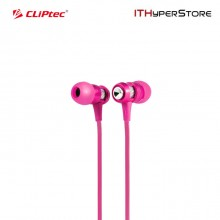 Cliptec BME747 HALLO In-Ear Earphone with Microphone (Pink)
