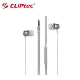 CLiPtec BME878 Rhythm Wired In-Ear Earphone with Mic and Volume Control (White)