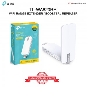 TP-LINK, 300Mbps Wi-Fi Range Extender / WiFi Super Booster - TL-WA820RE