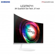 "SAMSUNG 27"" Curved 2K LED Monitor Quantum Dot Display - LC27H711QEE"