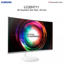 "SAMSUNG 31.5"" Curved 2K LED Monitor Quantum Dot Display - LC32H711QEE"