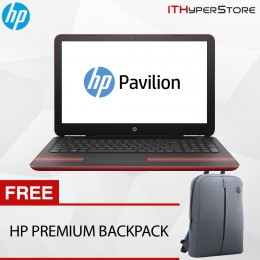 "HP Pavilion 15-Au103TX 15.6"" Laptop Red (I5-7200, 4GB, 1TB, GT940MX 2GB, W10H)"