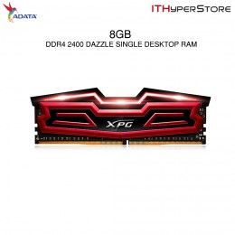 ADATA Dazzle SIngle DDR4 2400 8GB Gaming Desktop RAM (Red)