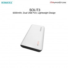 ROMOSS SOLIT3 Dual USB Charge Power Bank - 6000mAh