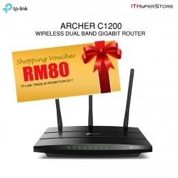 TP-LINK Archer C1200, AC1200 Wireless Dual Band Gigabit Router (UNIFI & Maxis Fiber support)