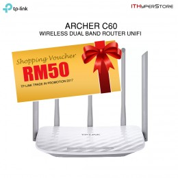 TP-Link ARCHER C60 AC1350 Wireless WiFi Dual Band Router Unifi Time