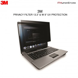"3M Privacy Filter & UV Protection 13.3"" W9"" Widescreen"