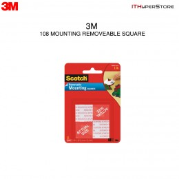 3M 108 Mounting Removable Square 1in x 1in