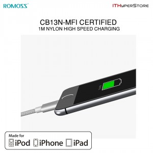 ROMOSS MFI Apple Lightning Charging USB Cable 1M - CB13N
