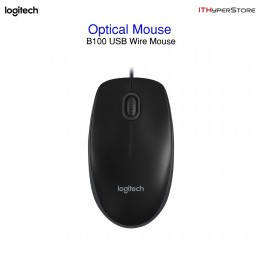 Logitech B100 Optical Wire Mouse - Black (New)