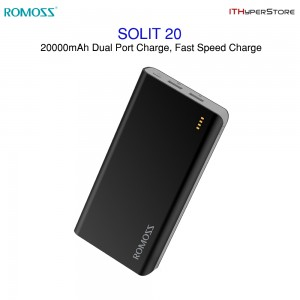 Romoss SOLIT 20 Pure 20000mAh Dual port Power Bank Fast Charge Power Bank