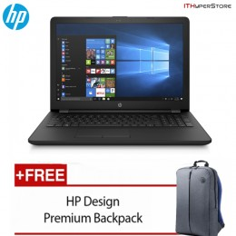 "HP 15-Bs641TX 15.6"" FHD Laptop Black (I5-7200U, 4GB, 1TB, ATI 520 2GB, W10)"