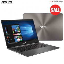 "Asus Zenbook UX430U-QGV259T 14"" FHD Laptop Metal Grey ( I3-7100U, 4GB, 128GB, GT940MX 2GB, W10H)"