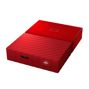 WD My Passport 2TB External Hard Drive / HDD - Red - (WDBYFT0020BRD)