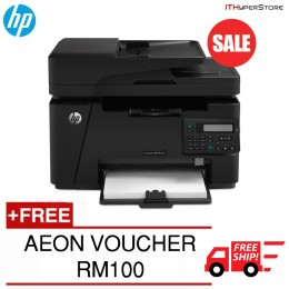 HP MFP M127FN Mono LaserJet Pro AIO Printer With Fax [FREE SHIPPING + FREE AEON VOUCHER RM100]