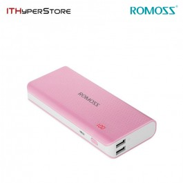 ROMOSS SENSE 4 LED 10400mAh POWER BANK - PINK