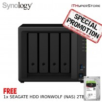 (Pre-Order@10days) Synology DS918+ NAS DiskStation 4-Bays(Plus Series) + 1x SEAGATE HDD IRONWOLF (NAS) 2TB