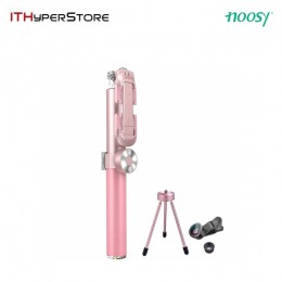 Noosy Leather Selfie Stick - Pink
