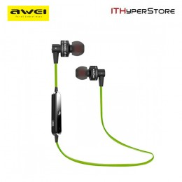 Awei A980BL Bluetooth 4.0 Sweat Proof Sport Stereo Earphone with Microphone