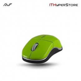 AVF Rapoo 1100X-GRN Wireless 2.4GHz Optical Mouse - Green