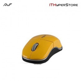 AVF Rapoo 1100X-YL Wireless 2.4GHz Optical Mouse - Yellow