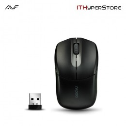 AVF Rapoo 1190-BLK 2.4G Wireless Optical Mouse (1000dpi) - Black