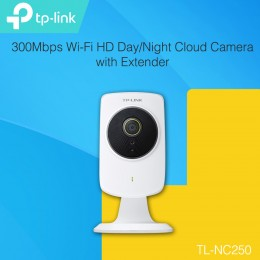 TP-LINK NC250 300Mbps Wi-Fi HD Day/Night Cloud Camera with Extender