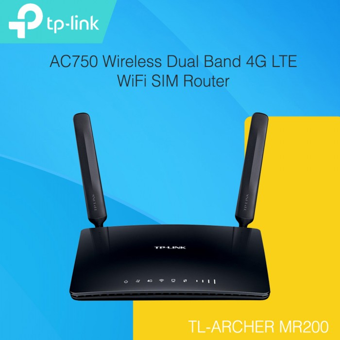 tp link mr200 ac750 wireless dual band 4g lte wifi sim router. Black Bedroom Furniture Sets. Home Design Ideas