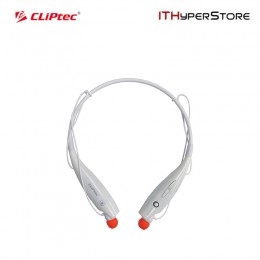 Cliptec Bluetooth 4.0 Stereo Neckband Headset With Mic (Air-Neckbeat) - White