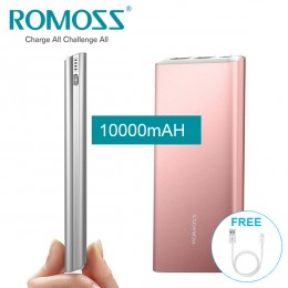 ROMOSS GT1 10000mAh Portbale Recharger Dual USB Li-polymer Power Bank