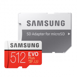 SAMSUNG MICRO SD W/ADPT 512GB EVO PLUS