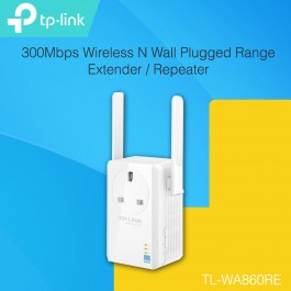 TP-LINK TL-WA860RE 300Mbps Wireless N Wall Plugged Range Extender / Repeater