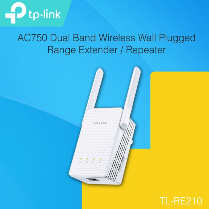 TP-LINK - RE210 AC750 Dual Band Wireless Wall Plugged Range Extender ...