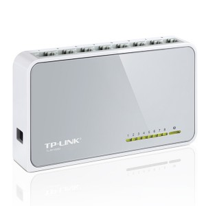 TP-LINK TL-SF1008D 8-Port 10/100M Mini Desktop Switch, 8 10/100M RJ45 Port