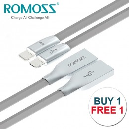 ROMOSS Rolink Hybrid Premium Cable ,Lightning Cable (8pin) and Micro USB Cable - BUY 1 FREE 1