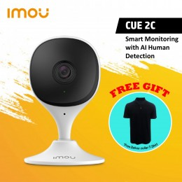 IMOU Cue 2C Human Detection   1080P   H.265   Abnormal Sound Alarm   Night Vision   Built-in Mic   Cloud (FREE Collar T-Shirt)