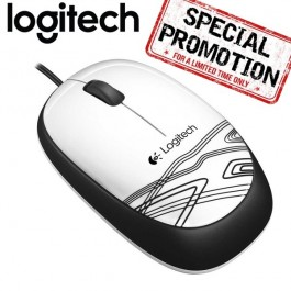 Logitech M105 Wired Mouse - White