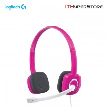 Logitech Stereo Headset With Mic - H150 - Fuchsia Pink